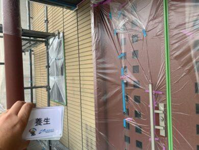 奈良香芝市S様邸 外壁塗装 養生