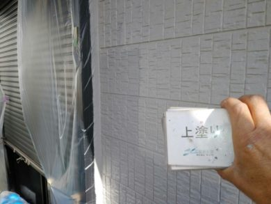 奈良香芝市S様 外壁塗装・屋根塗装 外壁塗装 上塗り