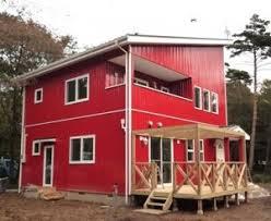 奈良の香芝市の株式会社ヨネヤの外壁塗装と屋根塗装の赤い家の画像
