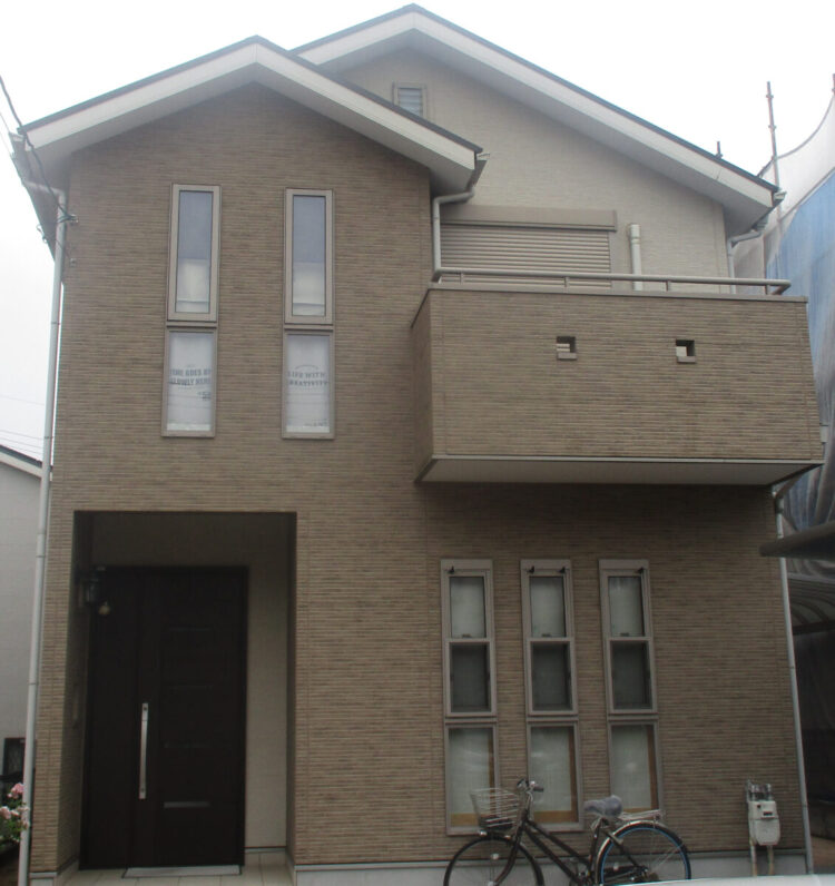 奈良大和高田市N様邸 外壁塗装・屋根塗装・防水工事 施工前の写真