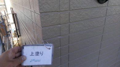 奈良葛城市M様邸 外壁塗装・屋根塗装・ベランダ防水工事 外壁塗装上塗り