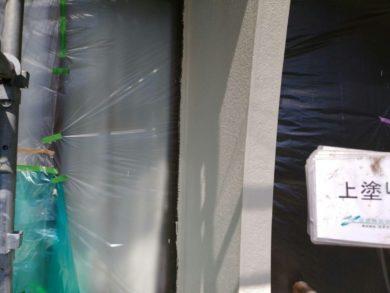 大阪南河内郡太子町T様 外壁塗装工事 外壁塗装上塗り