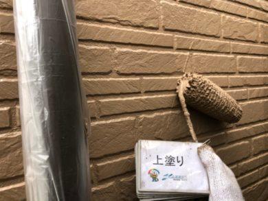 奈良香芝市N様 外壁塗装・屋根塗装・防水工事 外壁塗装上塗り