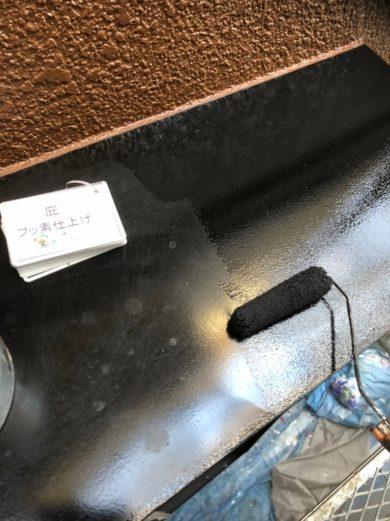 奈良香芝市U様 外壁塗装・屋根塗装工事 庇フッ素仕上げ