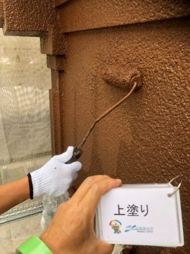 奈良香芝市U様 外壁塗装・屋根塗装工事 外壁塗装 上塗り