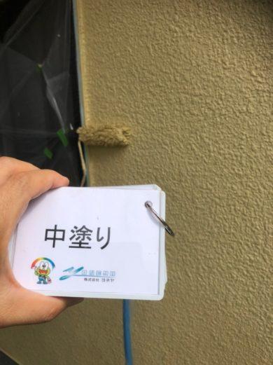 奈良香芝市U様 外壁塗装・屋根塗装工事 外壁塗装 中塗り