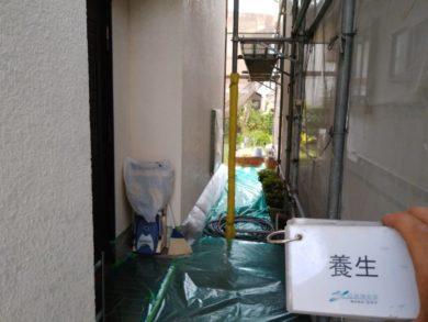 奈良香芝市Y様邸 外壁塗装・屋根塗装・外塀塗装 養生