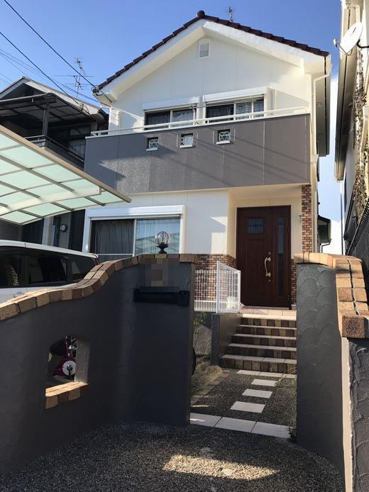 奈良県生駒市斑鳩町K様邸 外壁・屋根塗装工事 施工後の写真