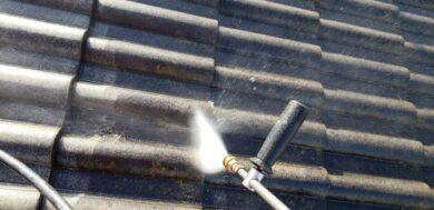 奈良北葛城郡上牧町H様 外壁塗装・屋根塗装・防水工事 屋根高圧洗浄