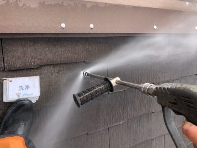 奈良香芝市N様 外壁塗装・屋根塗装・防水工事 屋根高圧洗浄