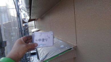 奈良香芝市M様 外壁塗装工事 外壁塗装 中塗り