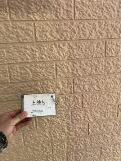 奈良香芝市K様邸 外壁塗装・屋根塗装工事 外壁上塗り