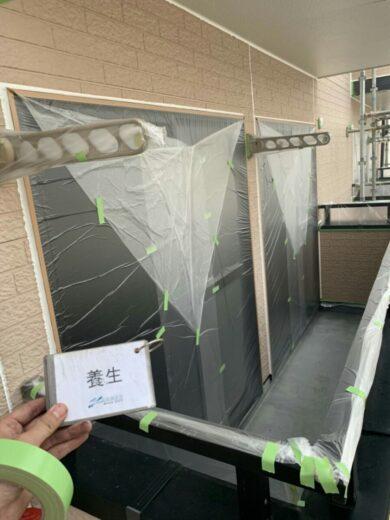 奈良香芝市K様邸 外壁塗装・屋根塗装工事 養生