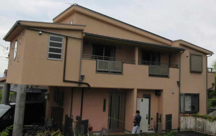 奈良北葛城郡王寺町S様邸 外壁塗装・防水工事 施工前の写真