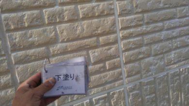 奈良香芝市K様 外壁塗装・屋根塗装 外壁塗装下塗り