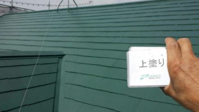 奈良香芝市K様 外壁塗装・屋根塗装・ベランダ防水工事 屋根塗装上塗り