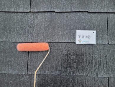 奈良大和高田市N様邸 外壁塗装・屋根塗装・防水工事 屋根下塗り②