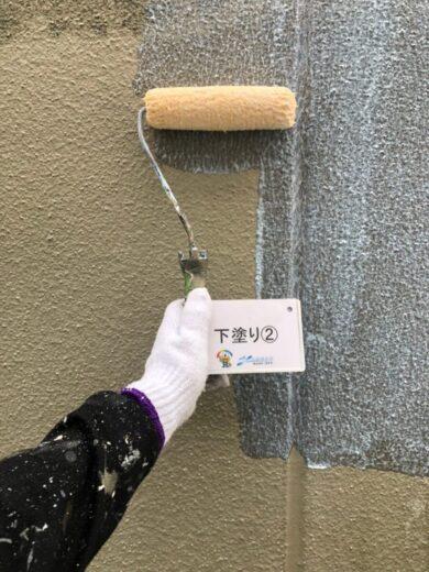 奈良葛城市S様邸 外壁塗装工事 外壁下塗り②