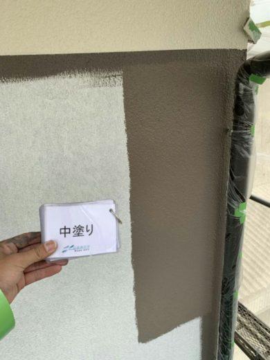 奈良大和高田市U様 外壁塗装工事 中塗り