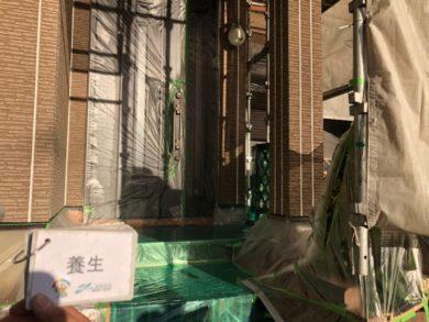 奈良奈良市U様邸 外壁塗装・屋根塗装・ベランダ防水工事 養生
