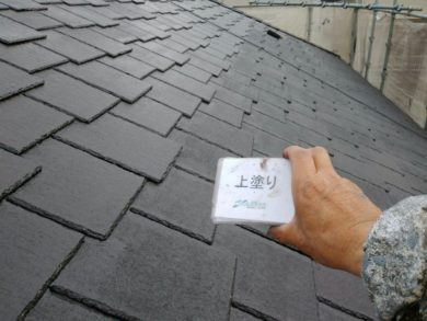 奈良・生駒郡三郷町M様 外壁塗装・屋根塗装 屋根塗装上塗り