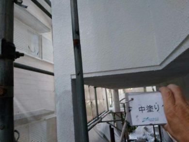 奈良・北葛城郡王寺町K様 外壁塗装・屋根塗装 中塗り
