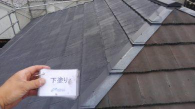 奈良香芝市K様 外壁塗装・屋根塗装 屋根塗装下塗り