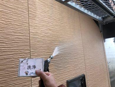 奈良奈良市U様邸 外壁塗装・屋根塗装・ベランダ防水工事 外壁高圧洗浄