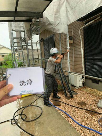 奈良葛城市M様邸 外壁塗装・屋根塗装・ベランダ防水工事 高圧洗浄