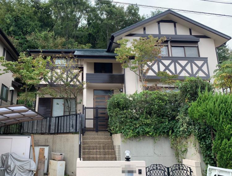 奈良県北葛城郡 T様邸 外壁・屋根・外塀塗装工事  施工後の写真