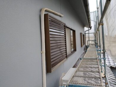 奈良香芝市F様 外壁塗装工事 樋フッ素仕上げ