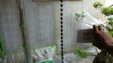 奈良香芝市F様 外壁塗装・外塀塗装 外壁塗装下塗り1回目