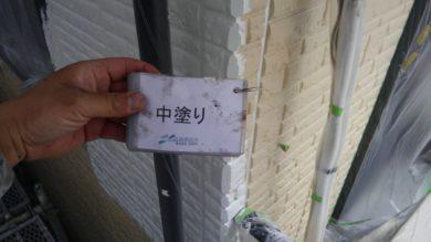奈良香芝市K様 外壁塗装・屋根塗装 2F外壁塗装中塗り