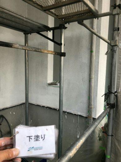 奈良・生駒市O様、外壁塗装・屋根塗装 下塗り