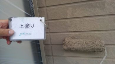 奈良・葛城市M様 外壁塗装・屋根塗装 上塗り