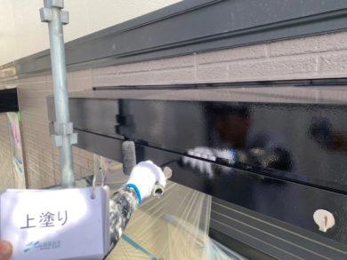 奈良生駒郡平群町K様邸 外壁塗装・屋根塗装 シャッターボックスシリコン仕上げ