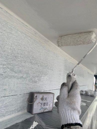 奈良宇陀市H様 外壁塗装・屋根塗装・防水工事 軒天下塗り