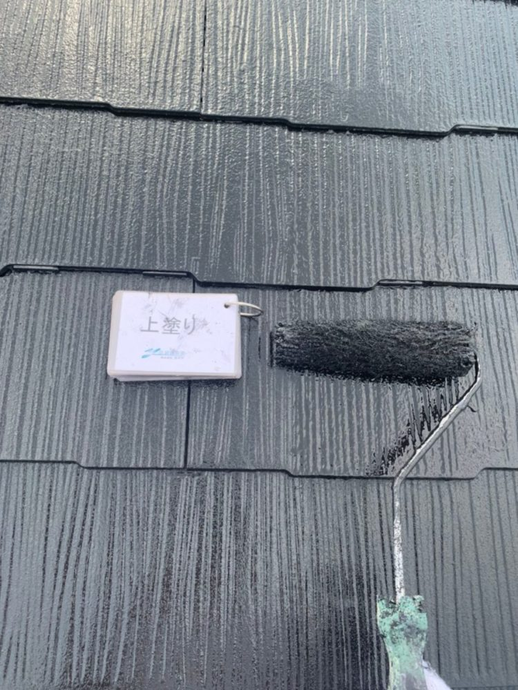 奈良の香芝市の株式会社ヨネヤの外壁塗装と屋根塗装の隙間
