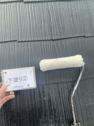 奈良香芝市K様邸 外壁塗装・屋根塗装工事 屋根下塗り②