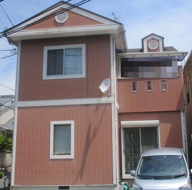 奈良香芝市F様邸 外壁塗装・屋根塗装・防水工事 施工前の写真