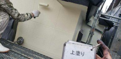 奈良香芝市Y様 外壁塗装・屋根塗装・防水工事 外壁塗装 上塗り