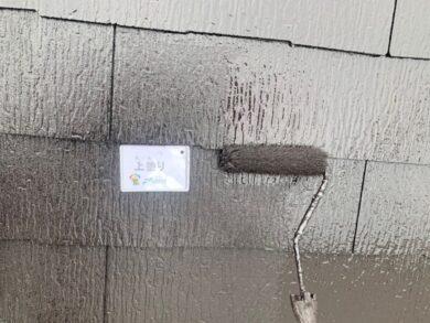 奈良大和高田市N様邸 外壁塗装・屋根塗装・防水工事 屋根上塗り