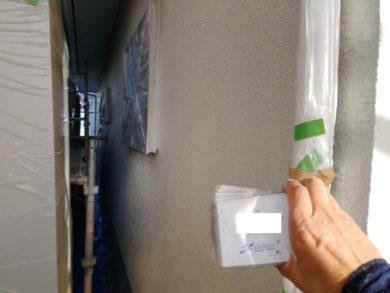 奈良生駒市M様邸 外壁塗装・屋根塗装・外塀塗装・防水工事 養生