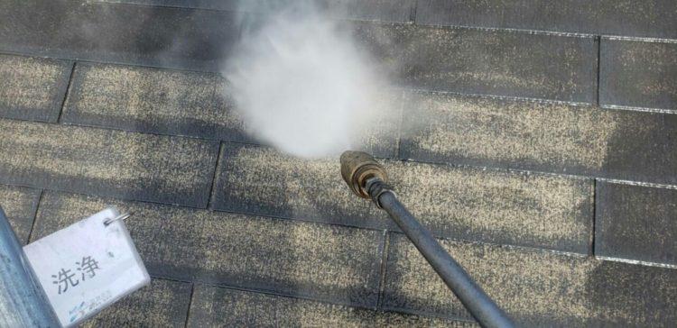 奈良の香芝市の株式会社ヨネヤの外壁塗装と屋根塗装の高圧洗浄