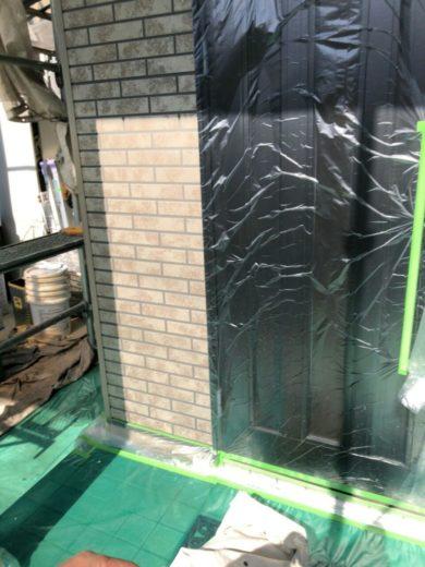 奈良大和高田市N様 外壁塗装・屋根塗装工事 養生
