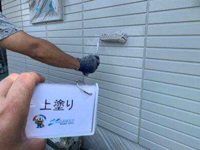 奈良香芝市S様邸 外壁塗装 外壁上塗り