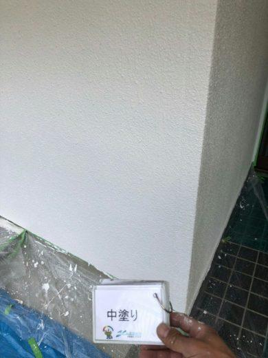奈良香芝市T様邸 外壁塗装中塗り