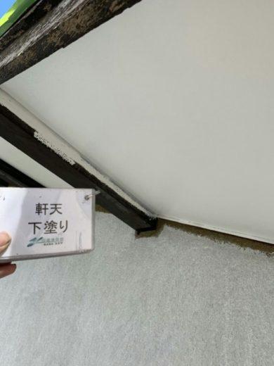 奈良生駒市H様邸 外壁塗装 軒天下塗り
