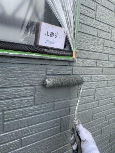 奈良宇陀市H様 外壁塗装・屋根塗装・防水工事 外壁塗装上塗り