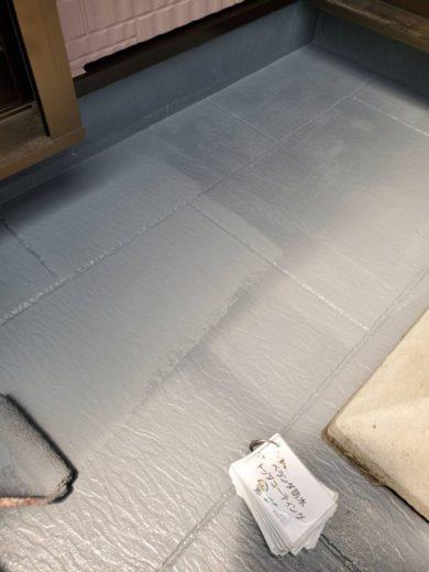 奈良生駒郡三郷町T様邸 外壁塗装・屋根塗装・ベランダ防水工事 ベランダ防水トップコーティング